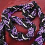Handfasting cord in black, lilac an..