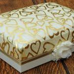 A5 Luxury Keepsake Box, ivory colou..